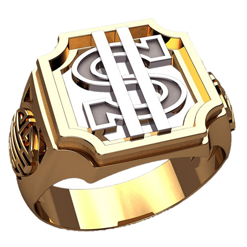 мужская печатка со знаком доллара от elitegold