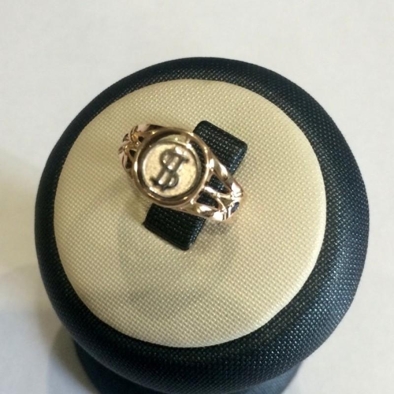 мужское кольцо со знаком доллара от elitegold