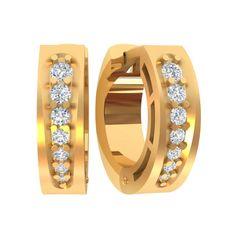 женское серьги-кольца с камнями