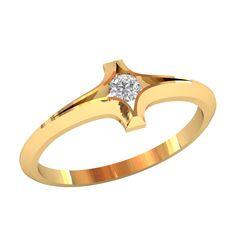 женское кольцо солитер в виде крестика