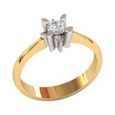 кольцо для помолвки солитер
