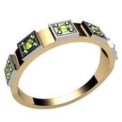 женское кольцо с накладками