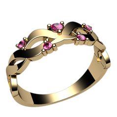 кольцо женское с переплетением