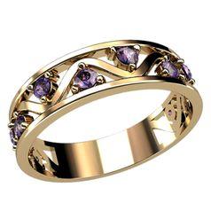 Стильное дизайнеское женское кольцо с камнями