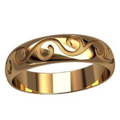 кольцо универсальное с узорами