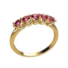 женское тонкое кольцо с камнями