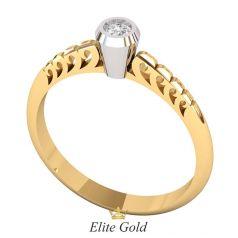 кольцо Amor в 2 цветах золота
