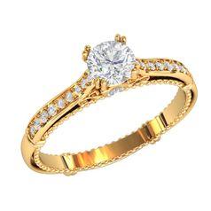 Женское дизайнерское кольцо с узорами и камнями