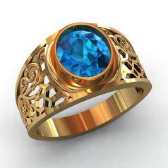 мужское кольцо с большим камнем