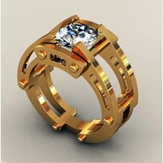 мужской перстень с крупным камнем