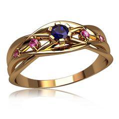кольцо Trina в красном золоте