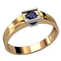 мужское кольцо с камнем