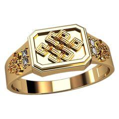 дизайнерский мужской перстень в красном золоте