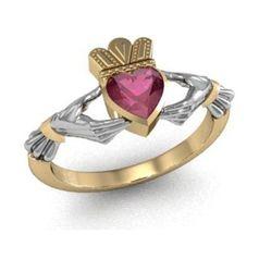 кладдахское кольцо с камнем сердце
