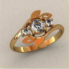 женское кольцо веточки