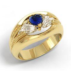 ирландское широкое кольцо с камнем