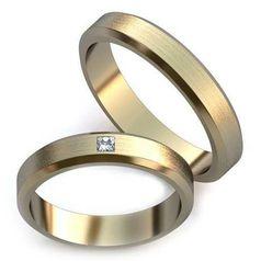 кольца обручальные парные с матированием