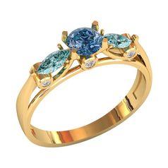 кольцо женское для помолвки или на каждый день с камнями