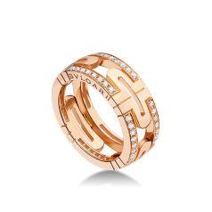 кольцо bvlgari parentesi с камнями
