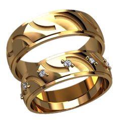 обручальные кольца с прорезями
