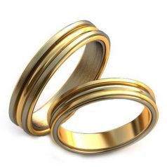 Авторские обручальные рельефные кольца