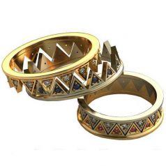 Авторские обручальные кольца Ksenia
