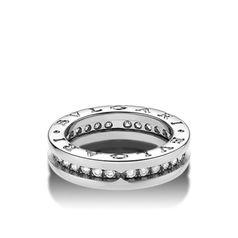 кольцо булгари с одной полосой и камнями