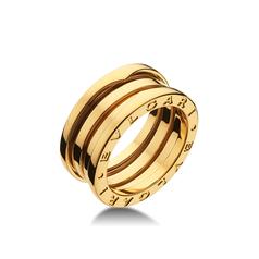кольцо в стиле булгари на 3 спирали