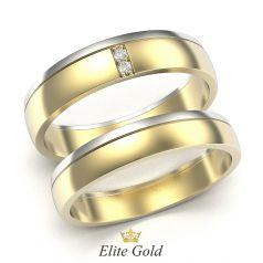 Элегантные авторские обручальные кольца в двух цветах