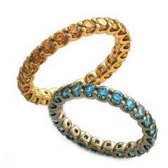 Авторские тоненькие обручальные кольца с камнями