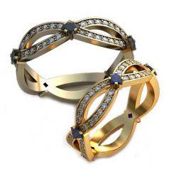 Дизайнерские обручальные кольца Бесконечность