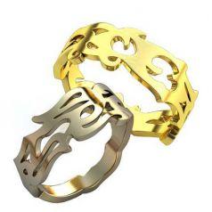 Авторские обручальные кольца Samurai