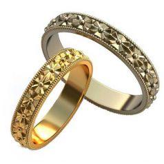 кольца с резными узорами