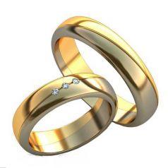 Авторские обручальные кольца Нежность