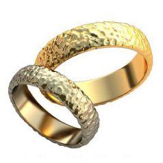 Авторские фактурные обручальные кольца