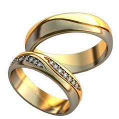 Авторские обручальные кольца Leila