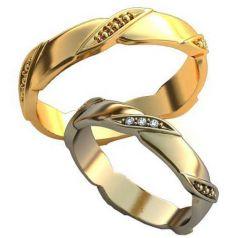 Дизайнерские обручальные кольца с узорами