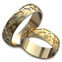 Авторские обручальные рельефные кольца Lilo