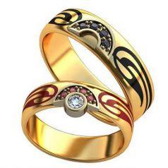 Авторские обручальные кольца Siera