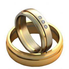 Лаконичные обручальные кольца с прорезями