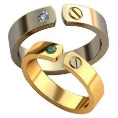 Дизайнерские обручальные кольца Nilla в стиле бренда