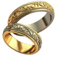 обручальные кольца Arden в белом и лимонном золоте