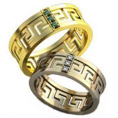 Авторские обручальные кольца в стиле бренда