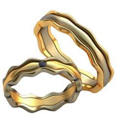 Авторские обручальные волнистые кольца