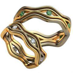 Авторские обручальные кольца Rina