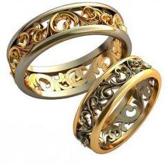 Авторские обручальные кольца Elizabeth