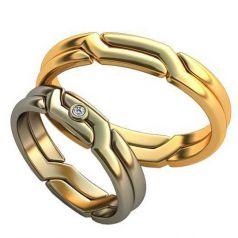 Авторские обручальные кольца Luisa