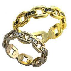 Эксклюзивные обручальные кольца в виде цепей