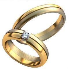 Авторские обручальные кольца Emma