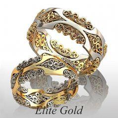 ажурные кольца Fairytale с дополнительными узорами